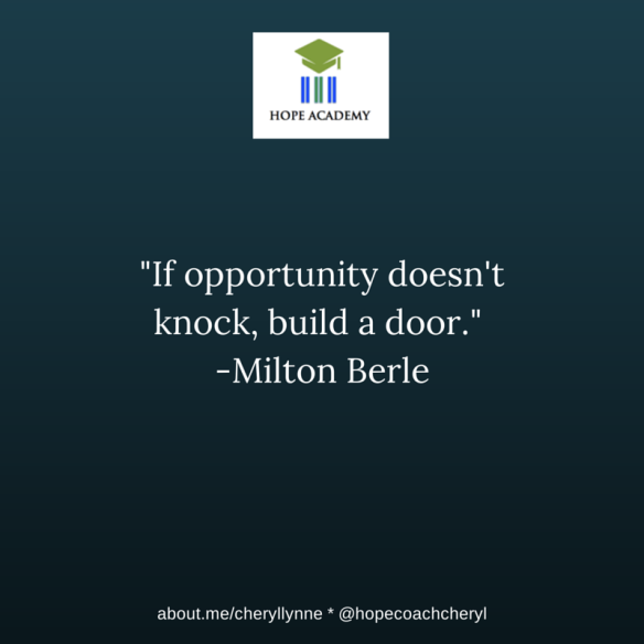 Opportunity Knock Build Door